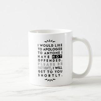apologize coffee mug