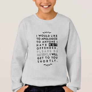 apologize sweatshirt
