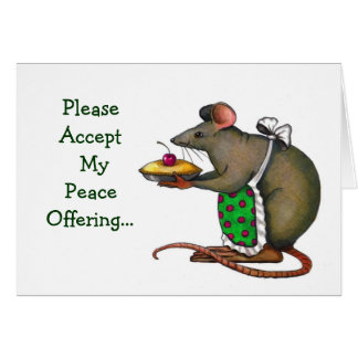 Apology Peace Offering Mrs Rat or Mouse Pie Cards