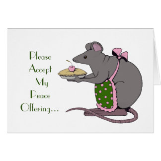 Apology: Sorry: Peace Offering: Mrs. Rat: Art Card