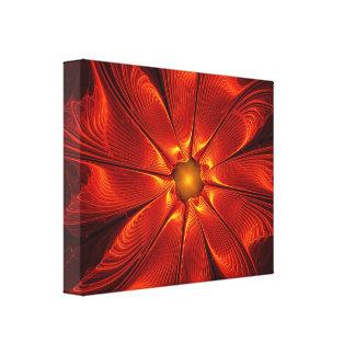 apophysis-421984 FIRE RED DIGITAL FLOWER apophysis Stretched Canvas Prints