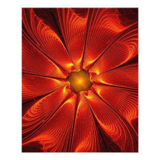 apophysis-421984 FIRE RED DIGITAL FLOWER apophysis Flyer Design