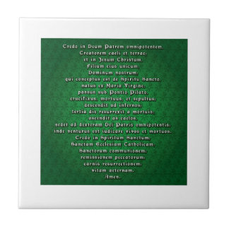 Apostles' Creed in Latin Small Square Tile