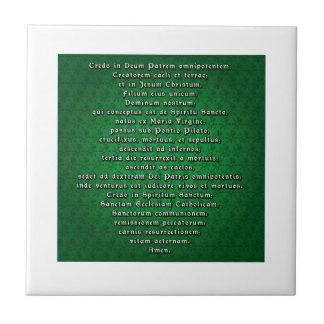 Apostles' Creed in Latin Tile