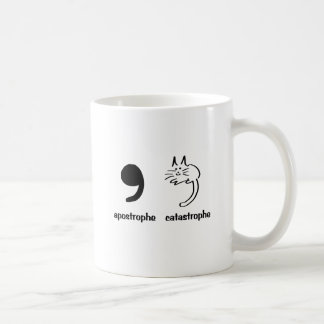 apostrophe catastrophe basic white mug