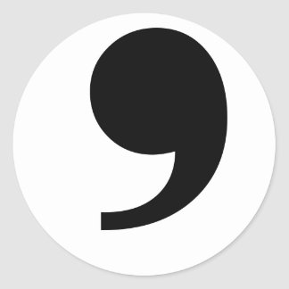 Apostrophe/Comma Sticker