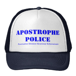 Apostrophe Police Cap