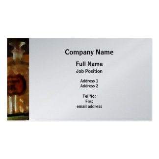 Apothecary Bottles - Platinum Finish Pack Of Standard Business Cards