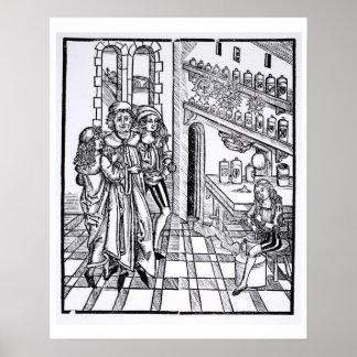 Apothecary's shop, from 'Das Buch der Cirugia' pub Poster