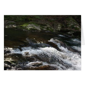 Appalachian mountain creek card
