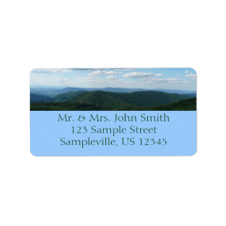 Appalachian Mountains I Shenandoah Label