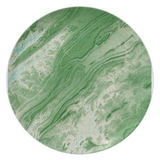 Appalachian Mountains in Alabama- Caribbean Style Plate