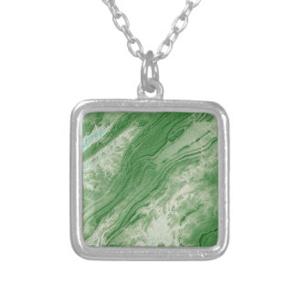Appalachian Mountains in Alabama- Caribbean Style Silver Plated Necklace