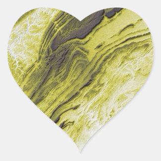 Appalachian Mountains in Alabama- Lightning Style Heart Sticker