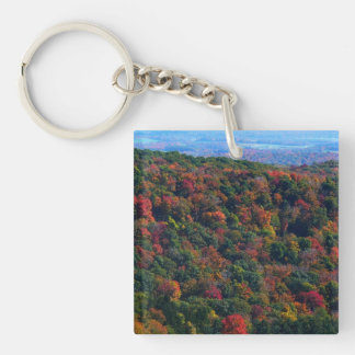 Appalachian Mountains in Fall Nature Photography Key Ring