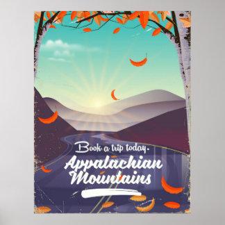 Appalachian Mountains vintage travel poster