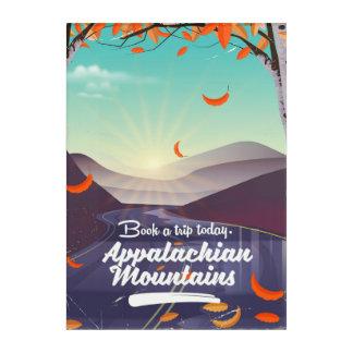Appalachian Mountains vintage travel poster Acrylic Print