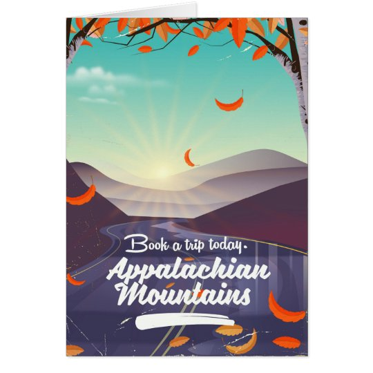 Appalachian Mountains vintage travel poster Card