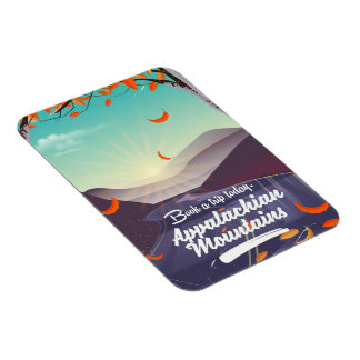 Appalachian Mountains vintage travel poster Magnet