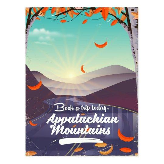 Appalachian Mountains vintage travel poster Postcard
