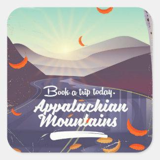 Appalachian Mountains vintage travel poster Square Sticker