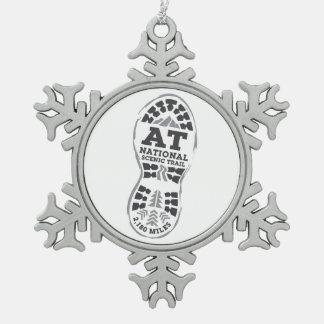 Appalachian National Scenic Trail Snowflake Pewter Christmas Ornament