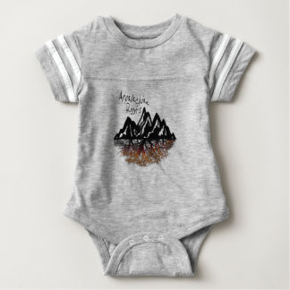 Appalachian Roots Baby One Piece Striped Baby Bodysuit
