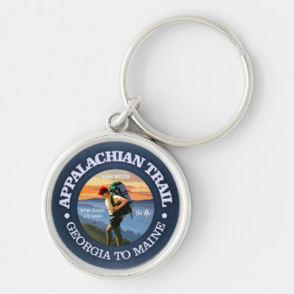 Appalachian Trail (Hiker C) Silver-Colored Round Key Ring