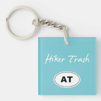 Appalachian Trail Hiker Trash Blue Key Chain