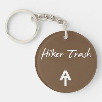 Appalachian Trail Hiker Trash Brown Key Chain