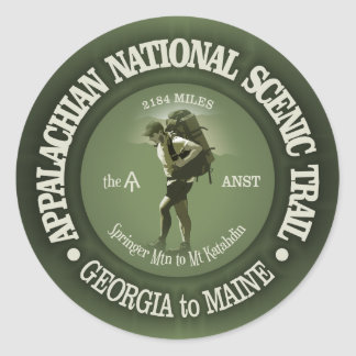 Appalachian Trail (o) Classic Round Sticker