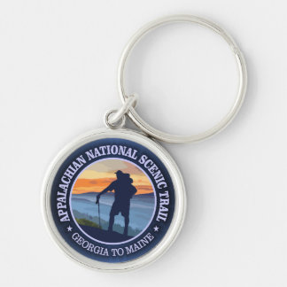 Appalachian Trail (rd)3 Silver-Colored Round Key Ring
