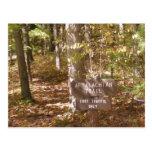 appalachian trail sign pennsylvania fall post cards