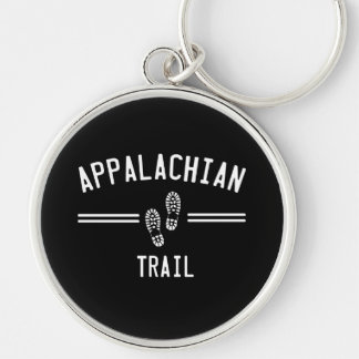 Appalachian Trail Silver-Colored Round Key Ring