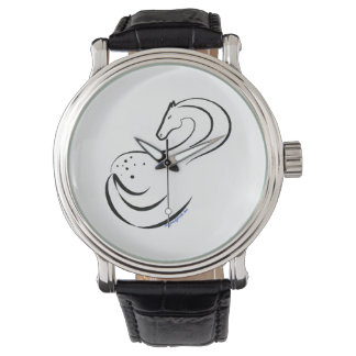 Appaloosa artwork on watch face
