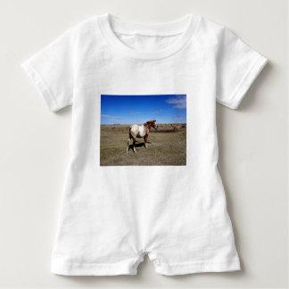 Appaloosa horse on summer prairies baby bodysuit