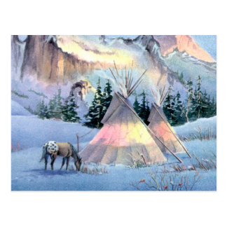 APPALOOSA HORSE TIPI CAMP by SHARON SHARPE Postcard