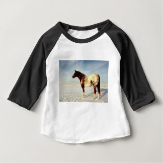 Appaloosa Mare in Winter Snow Baby T-Shirt