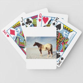 Appaloosa Mare in Winter Snow Poker Deck