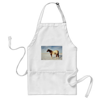 Appaloosa Mare in Winter Snow Standard Apron