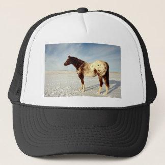 Appaloosa Mare in Winter Snow Trucker Hat