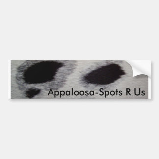 Appaloosa-Spots R Us Bumper Sticker
