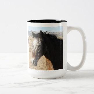 Appaloosa Spotted Horse Two-Tone Coffee Mug