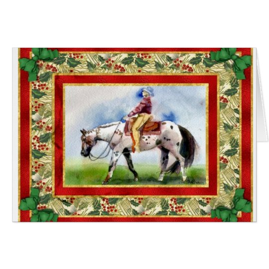 Appaloosa Western Pleasure Blank Christmas Card