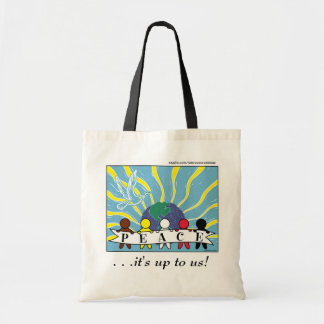 APPAREL, ETC:  WORLD PEACE TOTE CANVAS BAGS