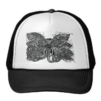Apparel printed with hand drawn hybrid elephant mesh hats