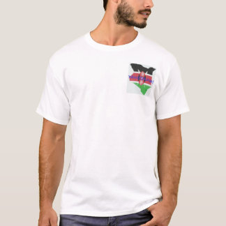 Apparel with Kenyan flag and map T-Shirt