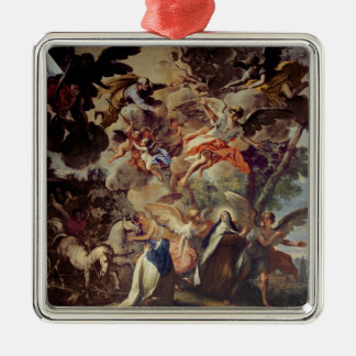 Apparition of St. Joseph to St. Theresa Silver-Colored Square Decoration