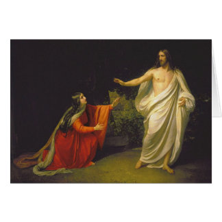 Appearance of Jesus Christ to Maria Magdalina Greeting Card