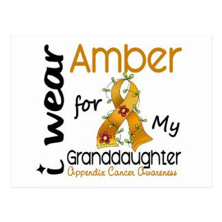 Appendix Cancer I Wear Amber For My Granddaughter Postcard